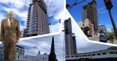 """AMLO: Ojalá """"se rebane"""" edificio altísimo en pleno Centro Histórico de Veracruz"""