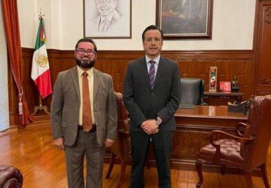 Se reúne Sergio Guzmán Ricárdez con el gobernador del estado
